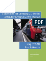 Guidelines for Creating 3D Modelling of UG Station - Using STAAD Pro Software-Bentley