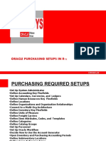 PURCHASING SETUPS IN ORACLE R12
