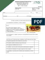 1º Teste de História 2º periodo 6º ano- C e B -PORTUGAL NA 2º METADE DO SECULO XIX