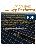 PV System Energy Performance Evaluations SP7.6