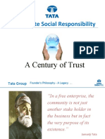 TATA Corporate Social Responsibility - A Century of Trust