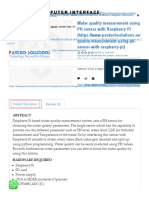 Water quality measurement using PH sensor with Raspberry Pi