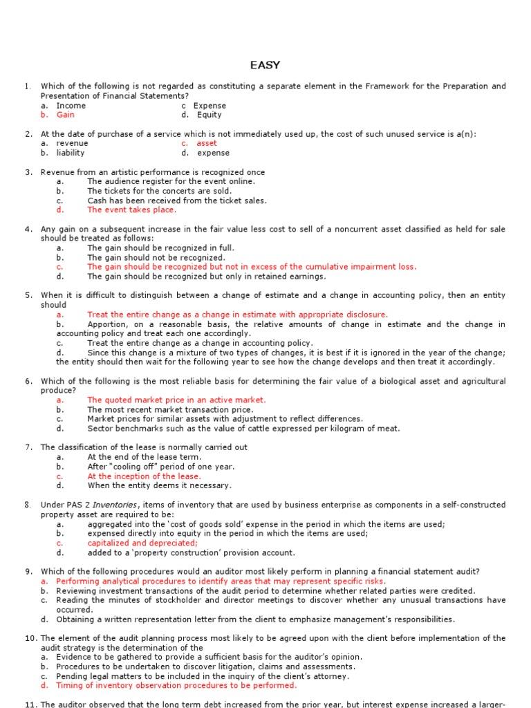 financial accounting quizbowl