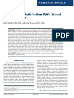 School Staff's Satisfaction With School health service