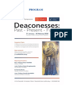 Final Program of the Deaconesses Symposium