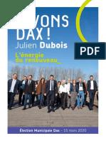 Vivons Dax ! Avec Julien Dubois, l'énergie du renouveau !