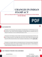 Recent Changes in Indian Stamp Act
