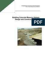 Building concrete masonry homes