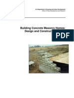 Building concrete masonry homes