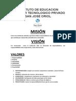 2 MISIÓN- VISIÓN  2016 -VALORES