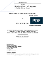 Kuen Hwa Traffic Indus. v. DNA Motor - Opening Appellate Brief
