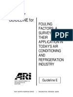 Guidelines for Fouling Factors