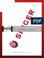 PDF Curso maquinas coser SINGER