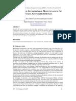 Towards An Incremental Maintenance of Cyclic Association Rules