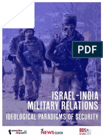 India Israel Military Relations 2020