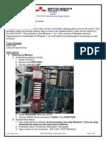 Mazak FX27 FX727 Blanking with Hyperterminal on Windows 7 Procedure