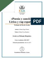 Poesía y canción; Lírica y rap español