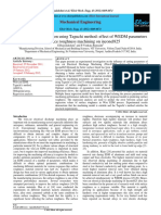 A parametric optimization using Taguchi method- inconel 825