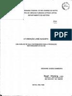 A FUNDAÇÃO JOSÉ AUGUSTO - UMA ANÁLISE DE SUA CONTRIBUIÇÃO PARA A PRODUÇÃO HISTORIOGRÁFICA DO RN