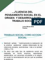 INFLUENCIA DEL PENSAMIENTO SOCIAL EN EL ORIGEN DEL TRABAJO SOCIAL