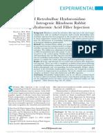 Harmonização facial - Iatrogenic  Blindness  Rabbit Model  Using  Hyaluronic  Acid
