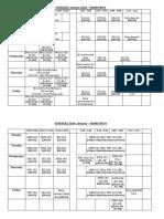Schedule IISER