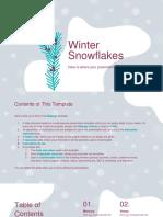 Winter Snowflakes by Slidesgo