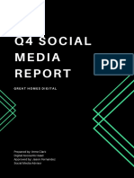 Black and Green Shapes Social Media Report