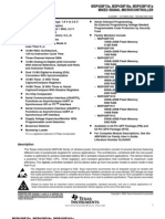 x x Msp430f161x Mixed Signal Micro Controller