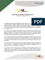 Mensaje Asamblea Anual CNL 2019