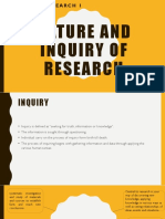 Lesson 1 and 2 Nature and Inquiry Importance of Research in Daily Life