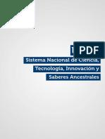 Sistema Nacional de Tecnologías, Innovación y Saberes Ancestrales Ecuador