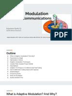 Adaptive Modulation Wireless Communications