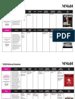 MM&M 2020 Calendar