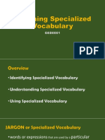 Enriching Specialized Vocabulary