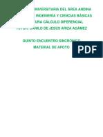CÁLCULO DIFERENCIAL QUINTO ENCUENTRO