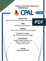 Ficha de desarrollo del lenguaje de 6 a 8 años