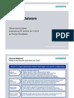 The Stuxnet Malware