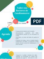 Taller rectores Cundinamarca - Encuentro con Fundación Cavelier Lozano 130319