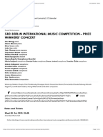 3rd Berlin International Music Competition – Prize Winners' Concert