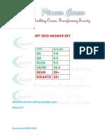 IIFT 2010 Answer Key