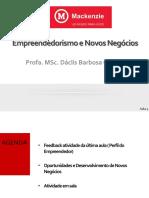 Empreendedorismo e Novos Negócios - aula 3- Segundas - 2sem2019