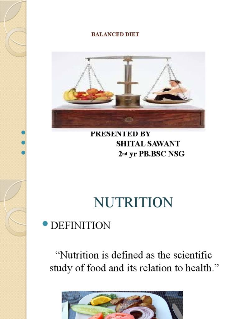 Ppt On Balanced Diet