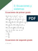 Tema 3 Ecuaciones y Sistemas