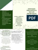 green ferns church trifold brochure