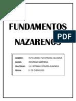 FUNDAMENTOS NAZARENOS 1.docx