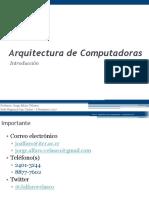 Introducción a la Arquitectura de Computadoras - Semana 1.pptx