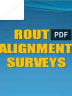 Route Alignment Survey for Railways