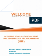 Operating Room Allocation Using MIP