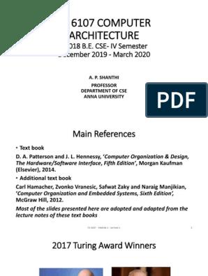 Module1 Lecture 1 Introduction Pptx Central Processing Unit Computer Architecture